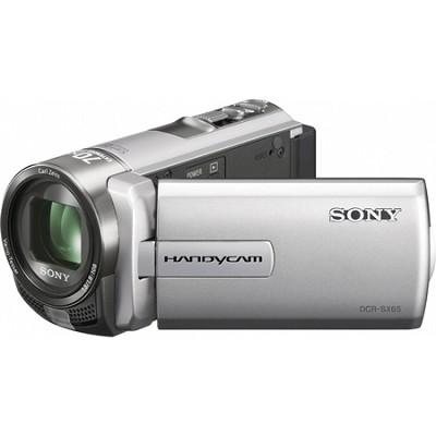 DCR-SX65 Handycam Compact Silver 4GB Camcorder w/ 60x Optical Zoom-OPEN BOX