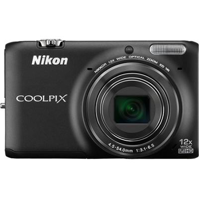COOLPIX S6500 16MP Digital Camera w/ 12x Zoom + Wi-Fi (Black) Refurbished