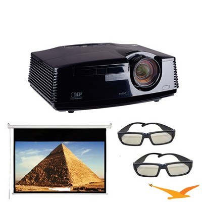 HC7800D Projector Full Hd 3d Projector With 120 ` Electric Screen 2X 3D Glasses