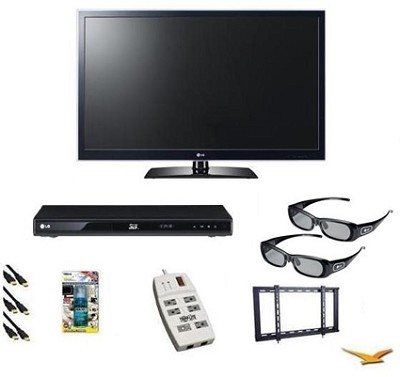 50PZ750 - 50` 3D 1080p Plasma TV Bundle,  BluRay, 3D Glasses, Mount and More!