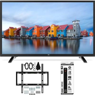 32LH550B 32-Inch 720p HD LED TV w/ Slim Flat Wall Mount Bundle