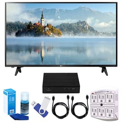 43` Full HD 1080p LED TV (2017 Model) + Terk HD TV Tuner 16GB Hook-Up Bundle