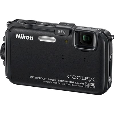 COOLPIX AW100 16MP Waterproof Shockproof Freezeproof Black Digital Camera