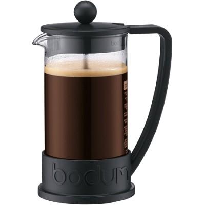 Brazil 12 oz French Press Coffee Maker Glass Carafe  (Black)