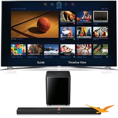 UN46F8000 46 inch 1080p 240hz 3D Smart Wifi TV+ HW-F750 Soundbar Bundle