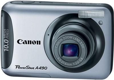 PowerShot A490 (Silver) 10 Megapixel Camera