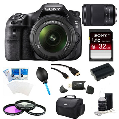 Alpha SLT-A58K Digital SLR Camera 32 GB 55-300mm Lens Bundle