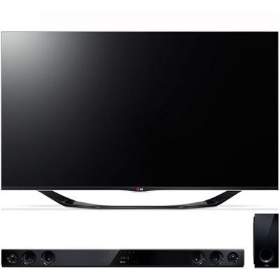55` 1080p 3D Smart TV 120Hz Dual Core 3D Edge LED TV with Sound Bar
