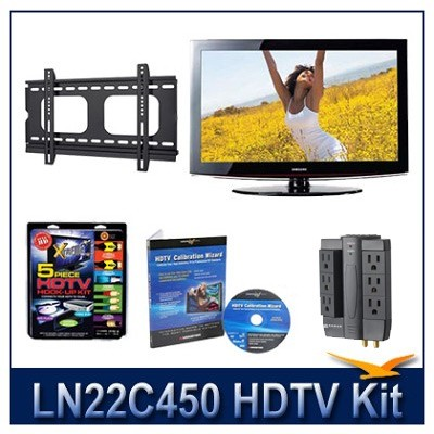 LN22C450 - 720p HDTV + Hook-up Kit + Power Protection + Calibration + Flat Mount
