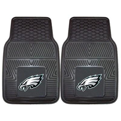 NFL Philadelphia Eagles Vinyl Heavy Duty Car Mat - Set of Two
