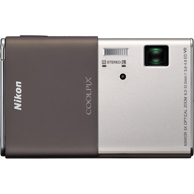 COOLPIX S80 Ultra-Slim 3.5 in Touchscreen Silver Camera w/ HD Video