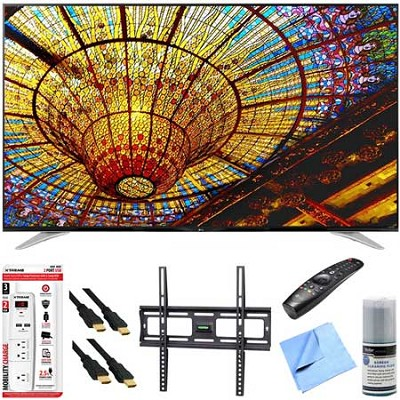 65UF7700 - 65-Inch 240Hz 2160p 4K Smart LED UHD TV Plus Mount & Hook-Up Bundle