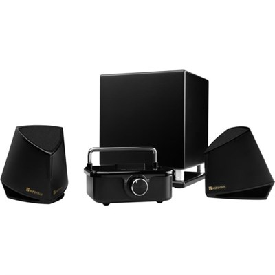 X100 Hi-Fi Desktop Audio System with Amplifier, 2 Speakers, Subwoofer