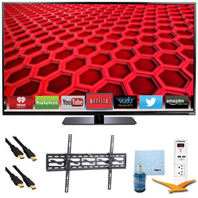 E500i-B - 50` LED Smart HDTV 1080p HD 120Hz Plus Tilt Mount & Hook-Up Bundle