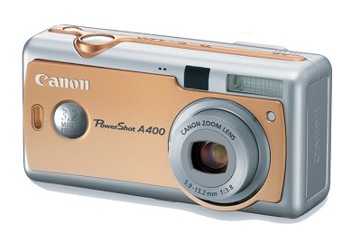PowerShot A400 Digital Camera Orange (Sunset Gold)