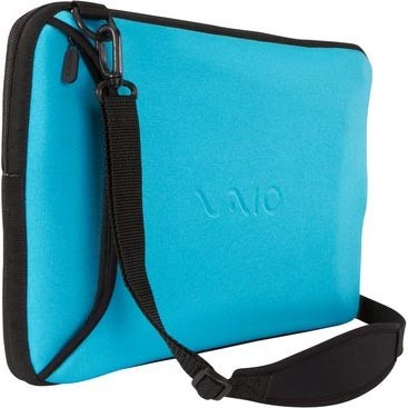 VAIO VGP-AMC9/L Reversible 15.5` Notebook Sleeve - Black and Blue