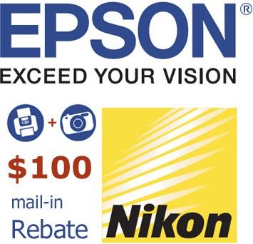 Nikon/Epson Camera + Printer Rebate Coupon - DOWNLOAD AND SAVE!