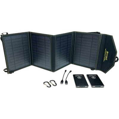 20W Portable Solar Charger with 2x8000mAh Fast-Charge Batteries - DCSJ20