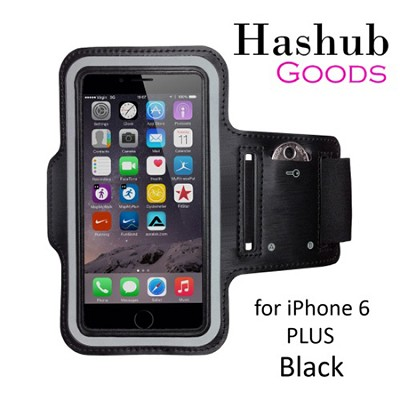 Sports Running Armband for iPhone 6 Plus/Galaxy S6/S6 Edge/Note 4/LG G3 in Black