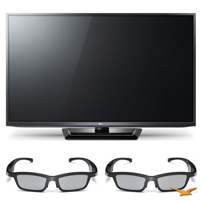 50PM6700 50` 1080p 3D Slim Bezel Plasma Smart HD TV and 3D Glasses Bundle