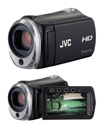 Everio GZ-HM300B Dual SD/SDHC card slot High-Def Camcorder