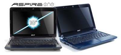 Aspire one 10.1` Netbook PC - Blue (AOD250-1165)