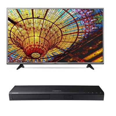 49UH6030 - 49` 4K Ultra HD Smart TV + Samsung 4K Ultra HD Smart Blu-ray Player
