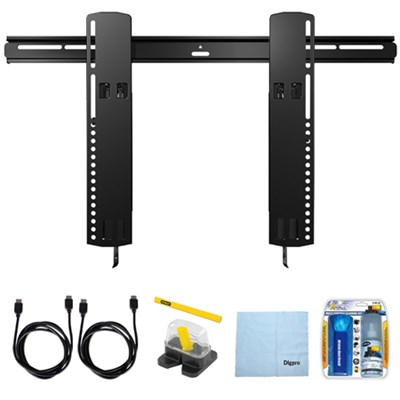 Premium Series Tilt Mount For 51`- 80` Flat-Panel TVs w/ Accessory Bundle