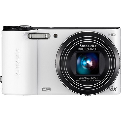 WB150F 14 MP 18X Wi-Fi Digital Camera - White - OPEN BOX