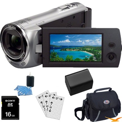 HDR-CX220/S Full HD Camcorder (Silver) Essentials Bundle