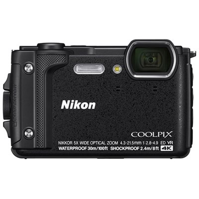 COOLPIX W300 16MP 4k Ultra HD Waterproof Digital Camera (Black)