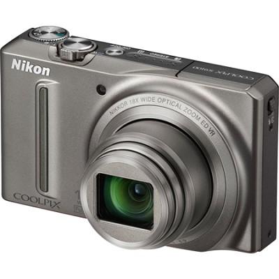 COOLPIX S9100 12MP Silver Digital Camera w/ 18x Optical Zoom