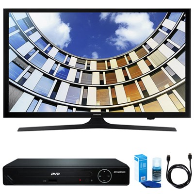 Flat 43` LED 1920x1080p 5 Series Smart TV w/ HDMI DVD Player Bundle