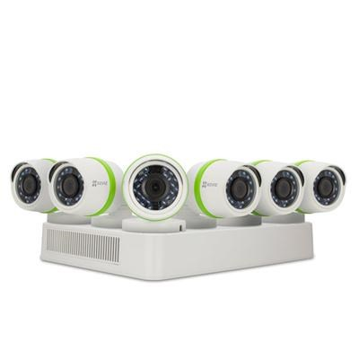FULL HD 1080p Outdoor Surveillance System, 6 Weatherproof HD Security Cameras