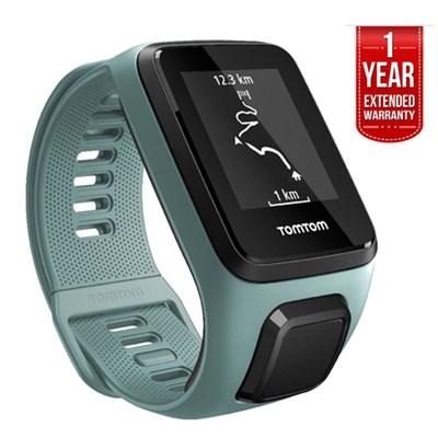 Spark 3, GPS Fitness Watch and Activity Tracker Aqua, Small + EXTENDED WARRANTY