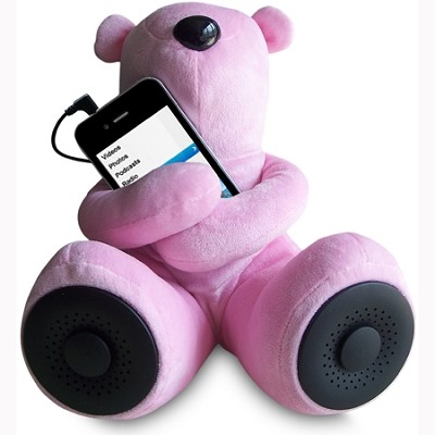 Teddy Speaker -The perfect addition to your iPod, iPhone, MP3 players (Pink)