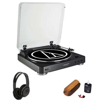 Fully Automatic Stereo Turntable System + Bluetooth Headphones Bundle