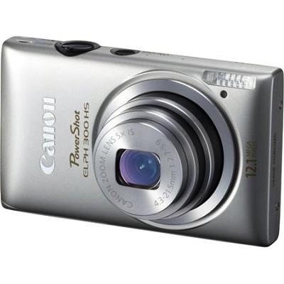 PowerShot ELPH 300 HS 12MP Silver Digital Camera w/ 1080p Video