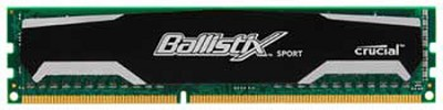8GB Kit (4GBx2), Ballistix 240-pin DIMM, DDR3 PC3-12800 memory module