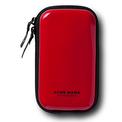 Sleek Video Camera Pouch (Red) Fits Flip Video