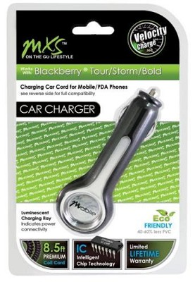 Car Charger for Blackberry Tour/Storm/Bold Droid & Other Popular Mobile Phones