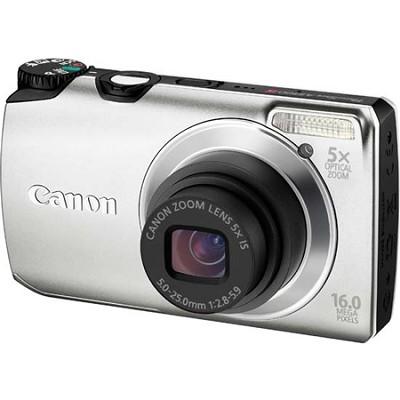 PowerShot A3300 IS 16MP Silver Digital Camera w/ 720p HD Video