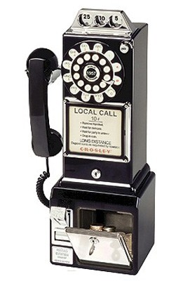 1950's Style Nostalgia Pay Phone - CR56-BK (Black)