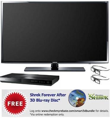 UN55EH6070 55 inch 120hz 1080p 3D LED HDTV w/ 3D Blu-ray & 2 Glasses