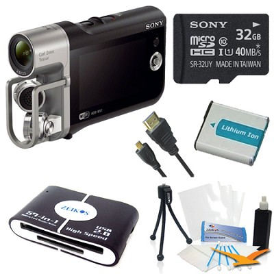 HD Camcorder with Premium Audio - Music Video Recorder Deluxe Bundle