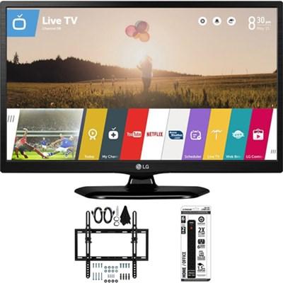 24LF4820 24-Inch 1080p HD LED Smart TV w/ Flat + Tilt Wall Mount Bundle