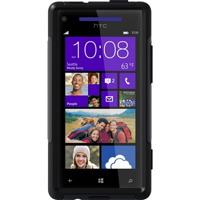 Commuter Series Case for HTC Windows Phone 8X - Retail Packaging - Black