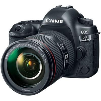 EOS 5D Mark IV 30.4 MP Full Frame DSLR Camera + EF 24-105mm f/4L IS II USM Lens