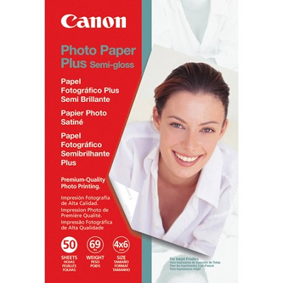 Semi Gloss 4 x 6 Inch Photo Paper Plus 50 Sheets (1686B014)