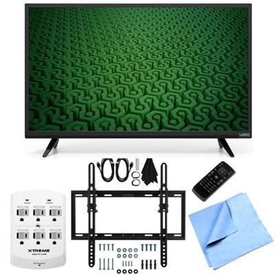D43-C1 - 43-Inch Full HD 1080p 120Hz LED TV Flat & Tilt Wall Mount Bundle